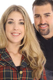 Schöner blonder Frauen- u. Latinomann Stockbilder