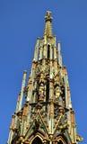 Schöner Brunnen on the Hauptmarkt in Nuremberg Royalty Free Stock Photography
