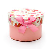 Schöner handgemachter rosafarbener Geschenkkasten Stockbilder