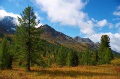 Schöner Himmel und Wolken in den mountais Lizenzfreie Stockfotografie
