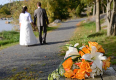 Schöner Hochzeitsblumenstrauß Stockbild
