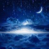 Schöner nächtlicher Himmel Stockbild