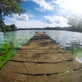 Schöner See in Ukraine Stockbilder