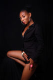 Schöner sexy junger Afroamerikaner Lizenzfreie Stockfotos