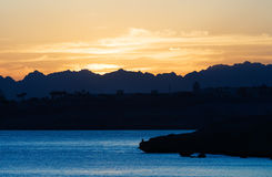 Schöner Sonnenuntergang in Ägypten Lizenzfreies Stockbild
