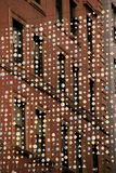 Schönes Beispiel des Hängens der Grafik auf den Straßen von Boston, Masse, im Dezember 2014 Lizenzfreie Stockfotos