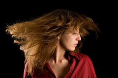 Schönes blondes leicht schlagendes Haar Stockfotos