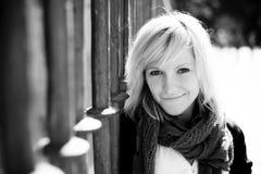 Schönes blondes Portrait Stockfotografie