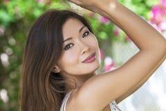 Schönes chinesisches asiatisches junge Frauen-Mädchen Lizenzfreies Stockfoto