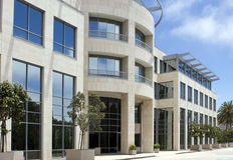 Schönes Führungsstab-Gebäude in Kalifornien Stockfoto