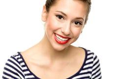 Schönes Frauen-Lächeln Stockbilder