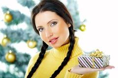 Schönes Gelb-Weihnachten Stockfotos