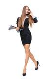 Schönes Geschäftsfraugehen Stockbilder