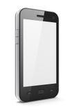Schönes highly-datailed schwarzes smartphone Lizenzfreies Stockfoto