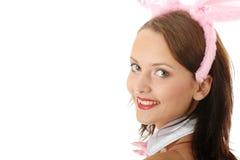 Schönes Mädchen in der reizvollen rosafarbenen Unterwäsche Lizenzfreie Stockfotos