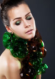 Schönes Mädchen - junges bloßes hübsches Mädchen Lizenzfreie Stockfotos