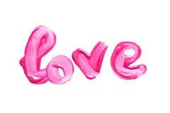 Schönes rosa Lipgloss Stockfotografie