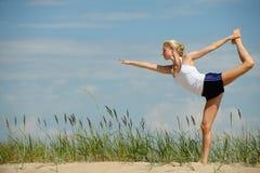 Schönes weibliches Training Stockbild