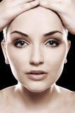 Schönes womans Gesicht Lizenzfreie Stockfotografie