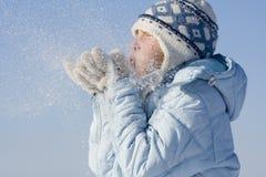 Schnespiele Stockfoto