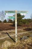 Schneverdingen Germany - Guidepost in the Luneburg Heath Royalty Free Stock Images