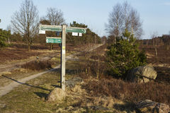 Schneverdingen Germany - Guidepost in the Luneburg Heath Royalty Free Stock Photo