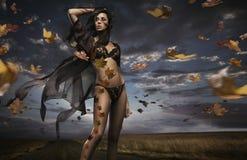 Schönheit Brunette Stockfoto