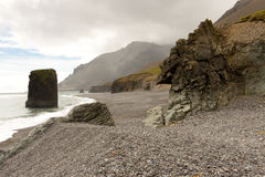 Schönheit, felsige Küstenlinie - Hvalnes Bereich - Island Stockfotos