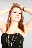 Schönheit geschossen von der jungen Frau Stockfotografie