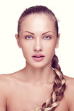 Schönheit mit perfekter Haut und Gesicht Lizenzfreie Stockbilder
