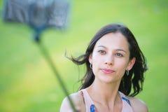 Schönheit Smartphone selfie Foto Stockbilder