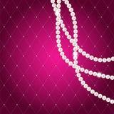 Schönheits-Perlen-Hintergrund-Vektor-Illustration Stockfotos