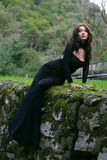 Schönheitsfrau im Kleid Stockbilder