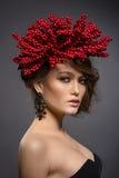 Schönheitsporträt des hübschen europäischen Mädchens Lizenzfreie Stockfotografie