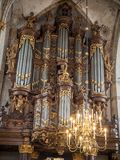 Schnitger organ in the Grote Kerk in Zwolle, Netherlands royalty free stock photos