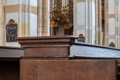 Schnitger organ in the Grote Kerk in Zwolle, Netherlands stock photography