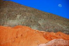 Schnitt eines Berges Stockfotografie