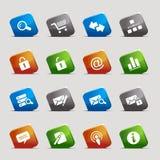 Schnitt-Quadrate - site-und Internet-Ikonen Stockfotos
