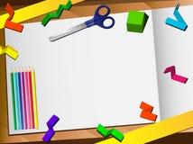 Schnitt-Schreibtisch-Hintergrund des Papier-3D. Lizenzfreie Stockfotografie