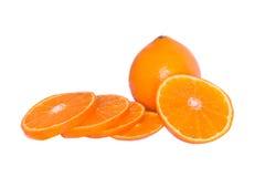 Schnitt und ganze Orange Lizenzfreies Stockfoto