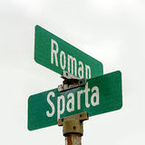 Schnitt von römischen und Sparta-Straßen Lizenzfreie Stockfotos