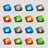 Schnittquadrate - Büro- und Geschäftsikonen Lizenzfreie Stockbilder