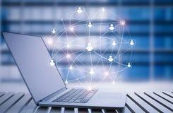 Schnittstelle des Sozialen Netzes Lizenzfreie Stockfotos