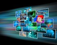 Schnittstelle mit einigen Bildern  Lizenzfreie Stockfotos