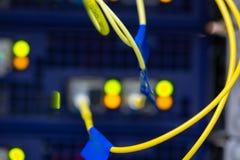 Schnittstelle optischer Zusammenfassung Telekommunikation der Lochkartengeräte verwischte Bild für Gebrauch als Hintergrund stockfotos