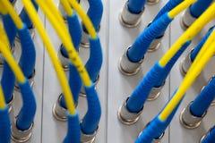Schnittstelle optischer Zusammenfassung Telekommunikation der Lochkartengeräte verwischte Bild für Gebrauch als Hintergrund stockbilder