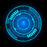 Schnittstellen-Hintergrundvektor der technologischen Kommunikation glühender Stockfotos