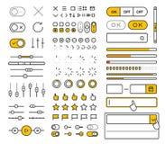 Schnittstellen-Vektorelemente der unterschiedlichen Art modische Lizenzfreie Stockfotos