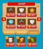 Schnittstellenknöpfe eingestellt für Spiele oder apps Stockfoto