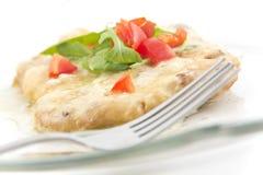 Schnitzel με την κρεμώδη σάλτσα Στοκ φωτογραφία με δικαίωμα ελεύθερης χρήσης